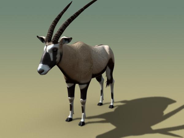 3d oryx