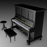 piano keyboard 3d 3ds