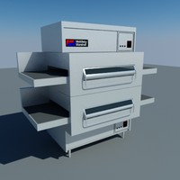 3d commercial pizza oven model