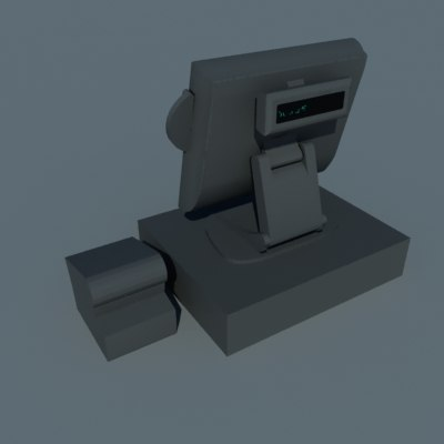 point cash register 3d dwg
