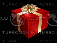 wrapped present gift 3d max
