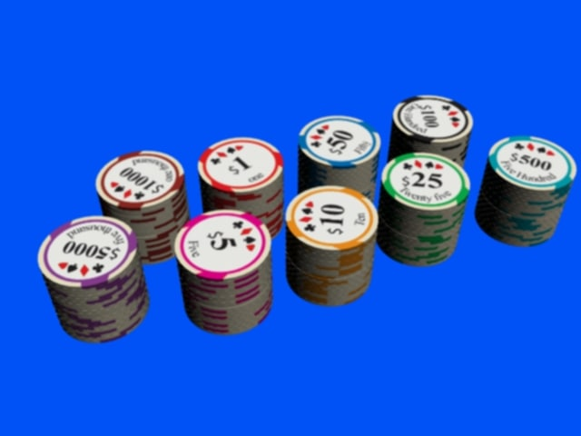 3d casino chips
