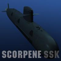 Scorpene Class attack submarine SSK