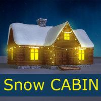 Winter House Cabin Snow