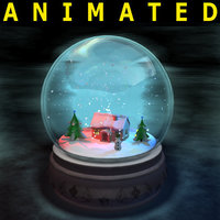 Snowglobe animated, complete scene