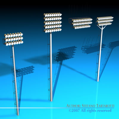 arena lights 3d model
