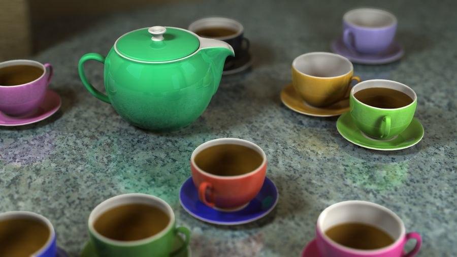 obj design tea set