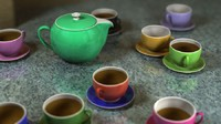 obj design tea set