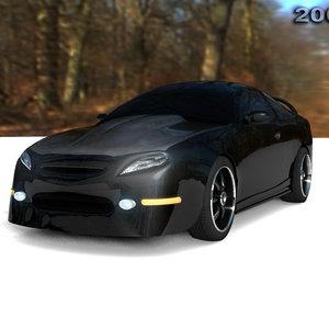 car acura 3d model