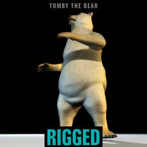 max polar bear tomby rigged