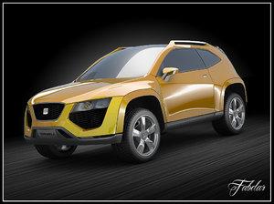 seat tribù concept suv 3d model