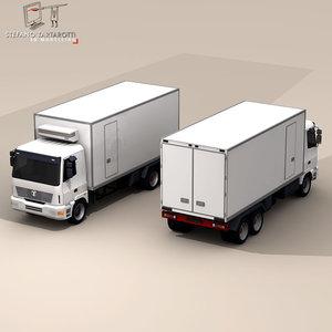 fridge truck 3d model