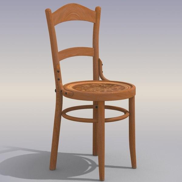 obj wood chair