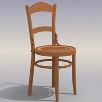 obj wood chair