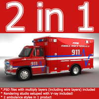 Emergency Ambulance concept truck 2in1