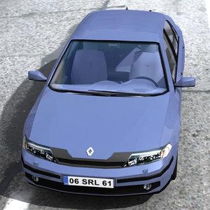 3ds max laguna renault car
