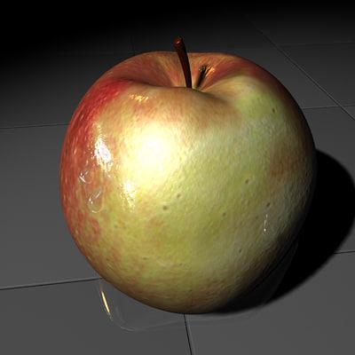 3d model of apple fruit