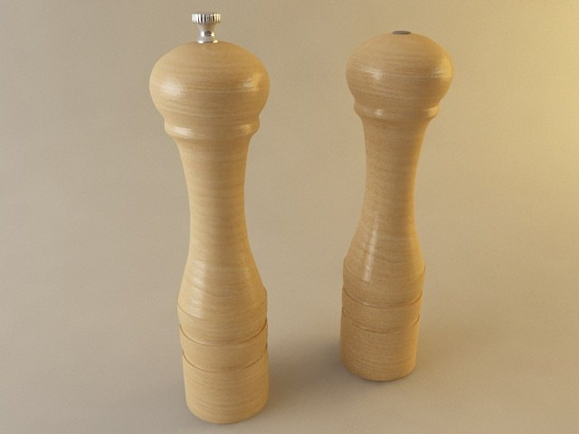 3d salt shaker pepper