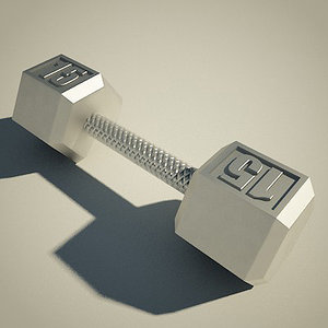 3ds max dumbell weight iron