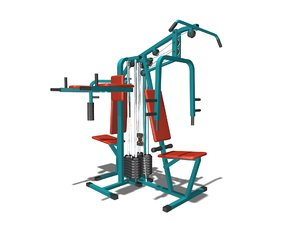 gym equipment 3d max
