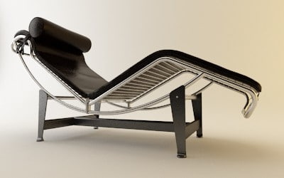 3d max le corbusier lounge chaise