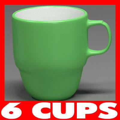 3d model mugs cups