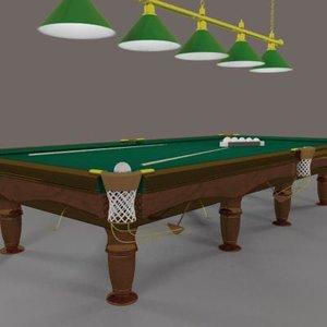 3d billiard table