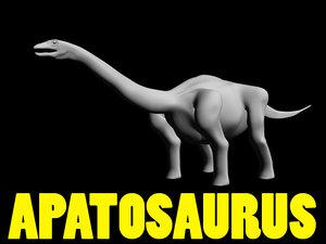 3d apatosaurus ancient animal model