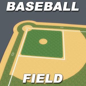 baseball field bases 3d model