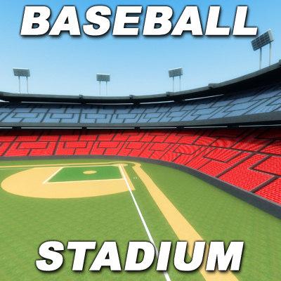3ds max baseball stadium