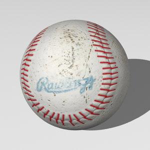 3d model of baseball rawlings
