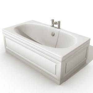 tub bathroom 3d model