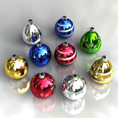 christmas ball ornaments 3d model