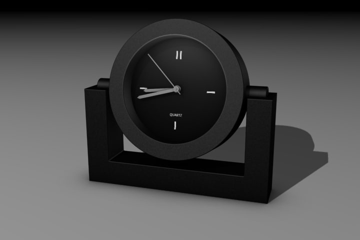 desk clock 3d max