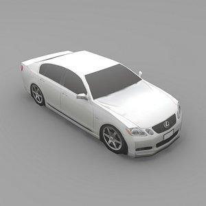 car lexus gs430 3d max
