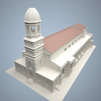 cathedral vibiana church 3d model