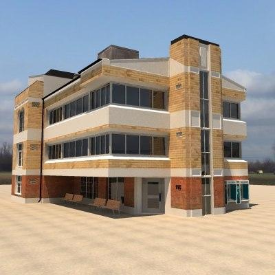 3d model office building city