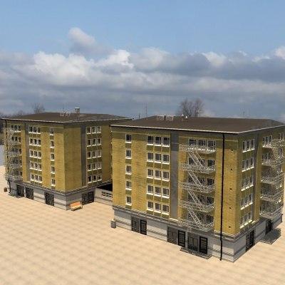 3d max apartment building
