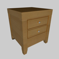 wooden night table 3d c4d