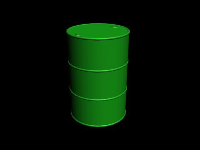 3ds max 55 gallon oil drum