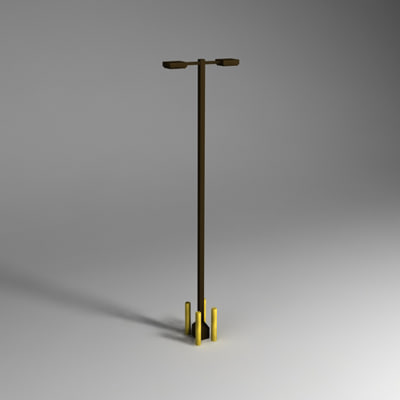 light pole 3d model