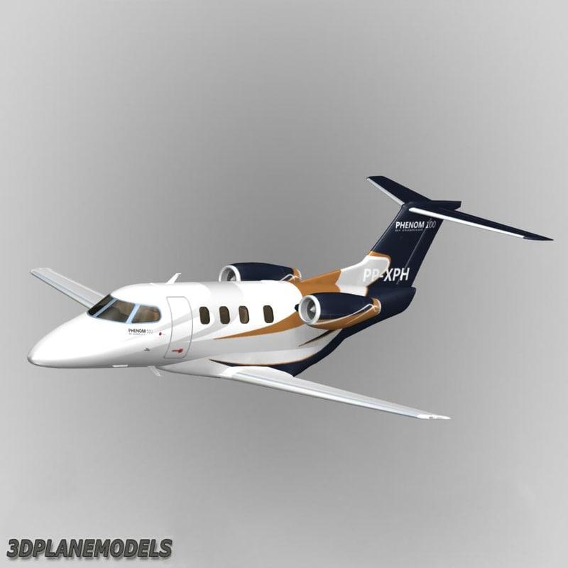 3d model embraer phenom 100 livery