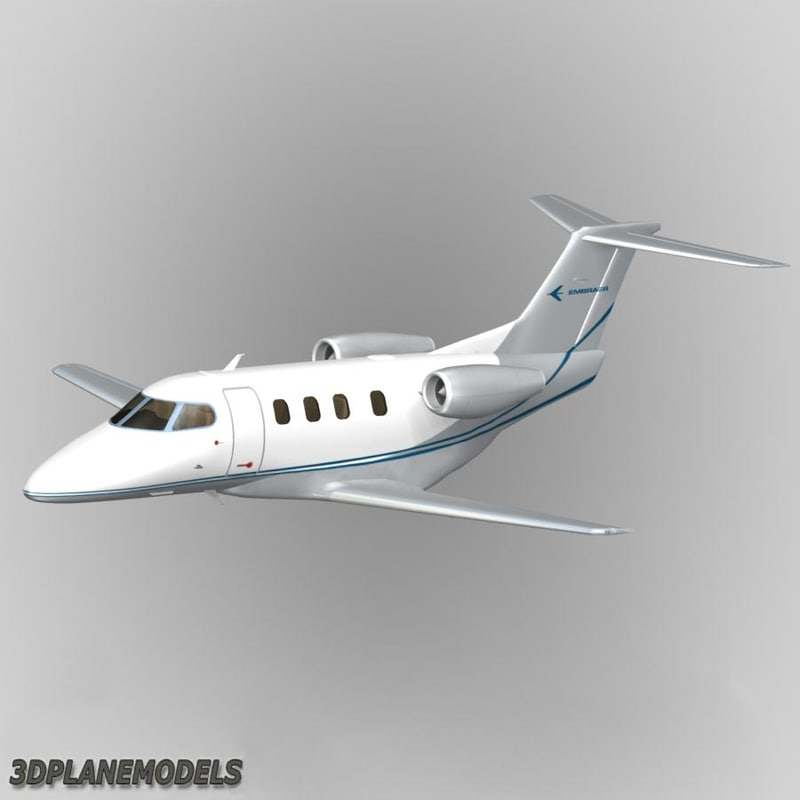 3d model embraer phenom 100 private