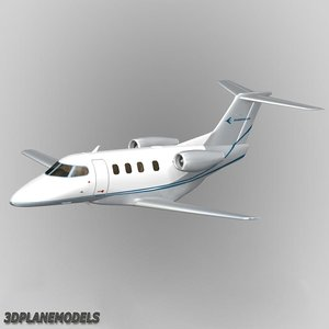 3d model embraer phenom 100 private