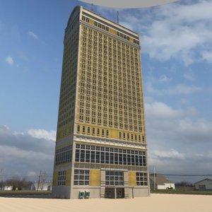 3d office skyscraper building model