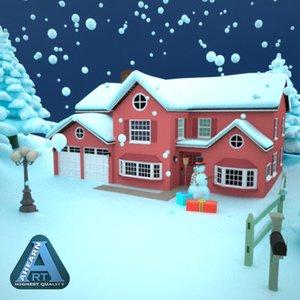3d snow globe model