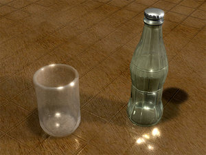 3d vintage soda bottle glass