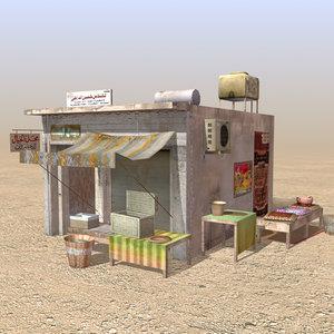 3d model arab store shops