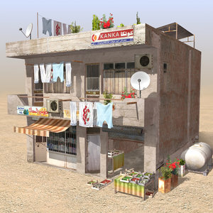 arab store shops 3d max
