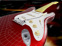 fender stratocaster guitar 3ds
